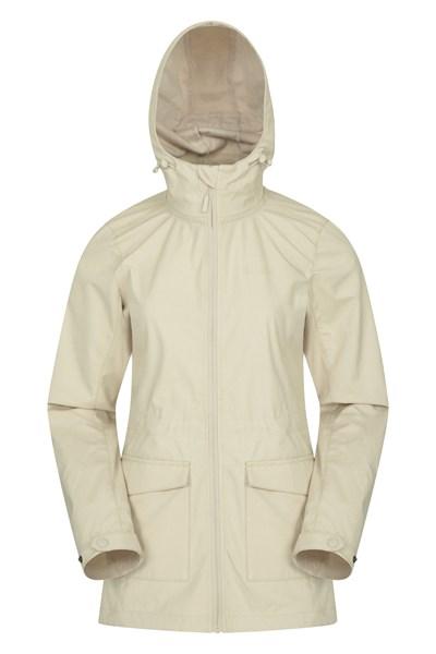 Pines Womens Long Softshell Jacket - Beige