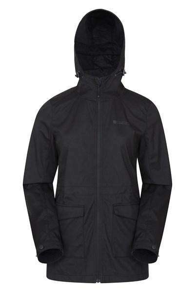 Pines Womens Long Softshell Jacket - Black
