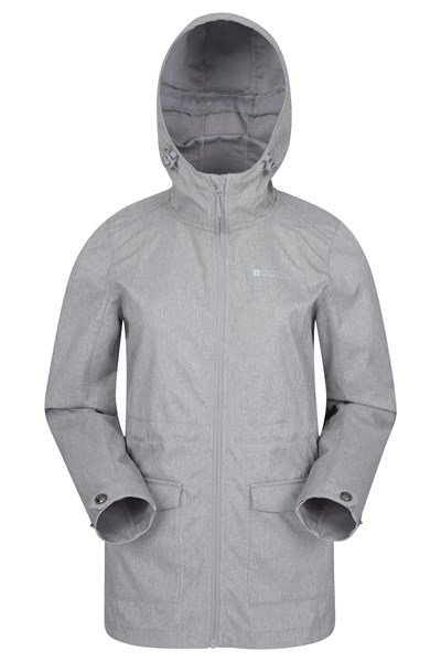 Pines Womens Long Softshell Jacket - Grey