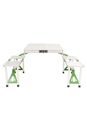 Table de Camping Pliable Aluminium 4 Places