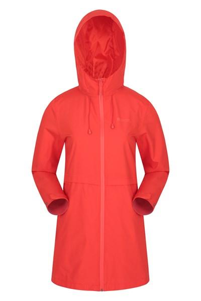 Hilltop Womens Waterproof Jacket - Orange
