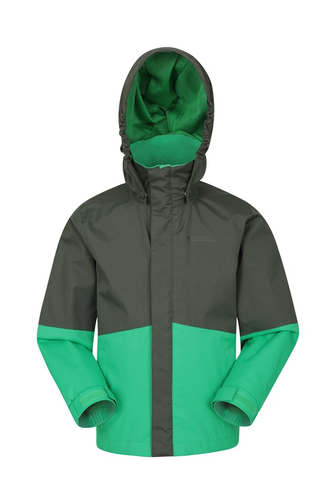 Asteroid Kids Waterproof Jacket - Green