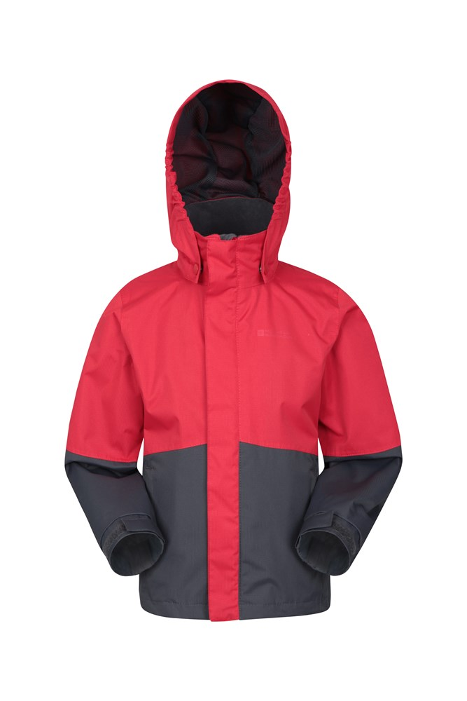 Asteroid Kids Waterproof Jacket - Red