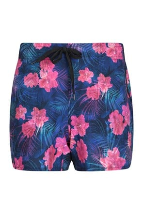 Gemusterte Damen Stretch-Boardshorts - kurz