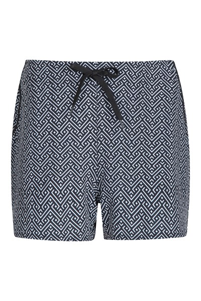 Patterned Womens Stretch Boardshorts - Short - Charcoal