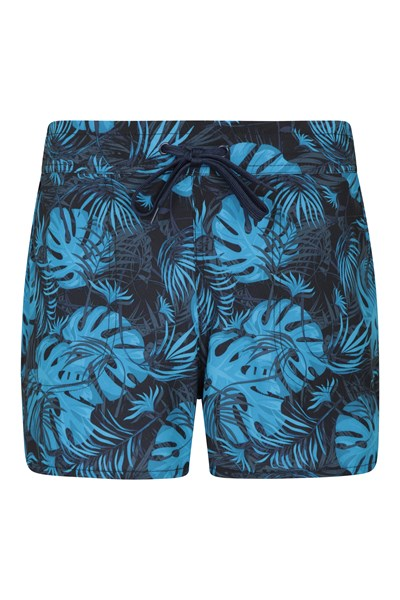 Patterned Womens Stretch Boardshorts - Short - Blue