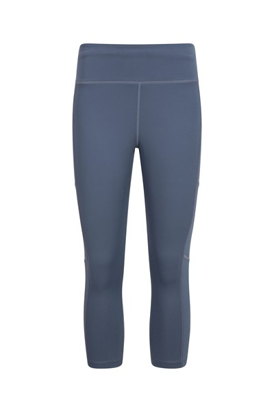 Pacesetter Womens Run Capri-Leggings - Grey