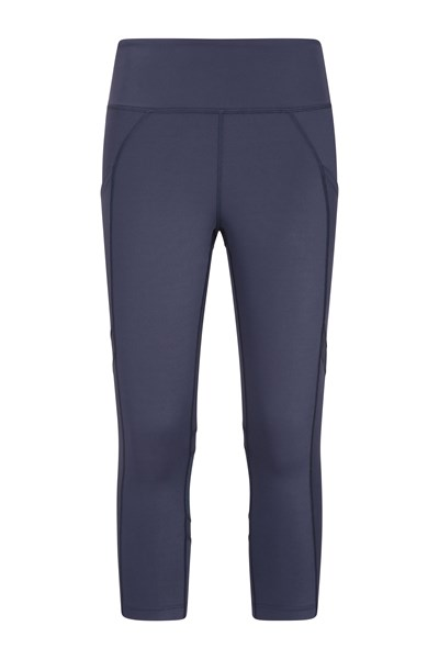 Get The Message Womens Capri Leggings - Navy