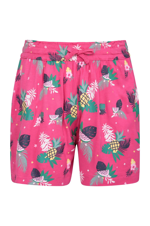 Printed Kids Flippy Shorts - Pink