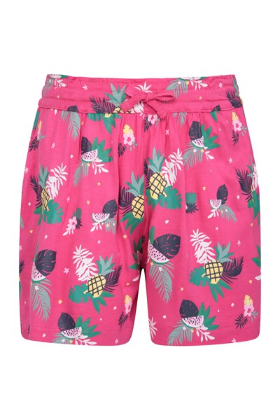 Printed Kids Flippy Shorts - Pink