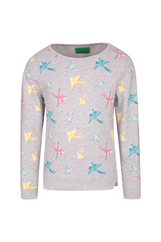 Printed Kids Sweatshirt - Grey