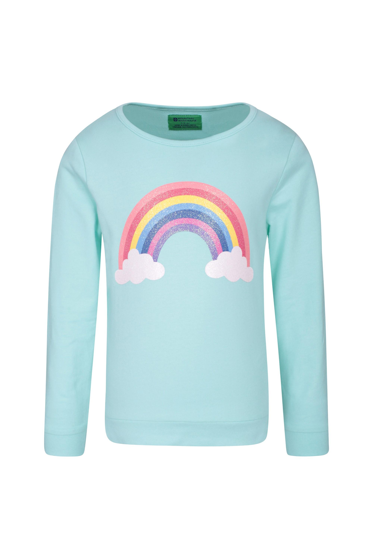 Printed Kids Sweatshirt - Teal