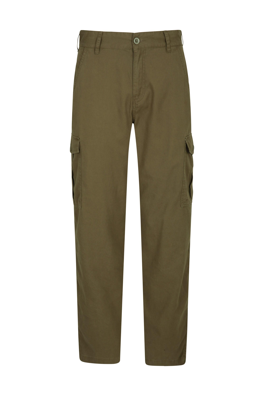 Lakeside Mens Cargo Trousers - Short Length - Green