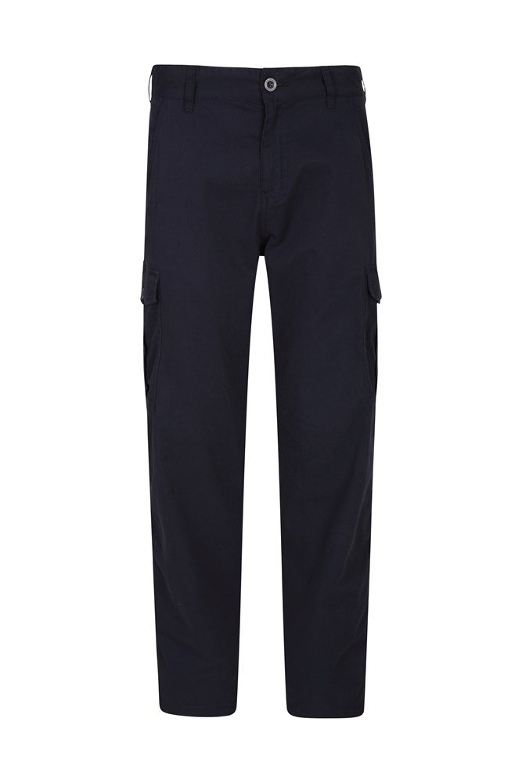 Lakeside Mens Cargo Trousers - Short Length - Navy