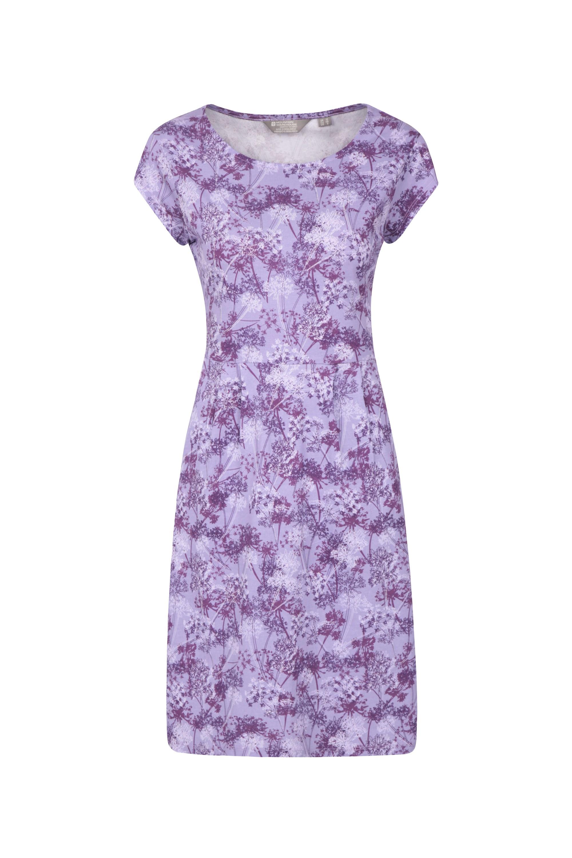Cannes Kurzärmeliges Damen-Kleid - Violett