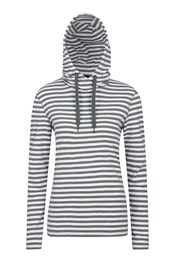 Striped Pull Over Womens Hoodie