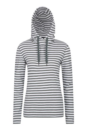 Pull Over Stripe Womens Hoodie