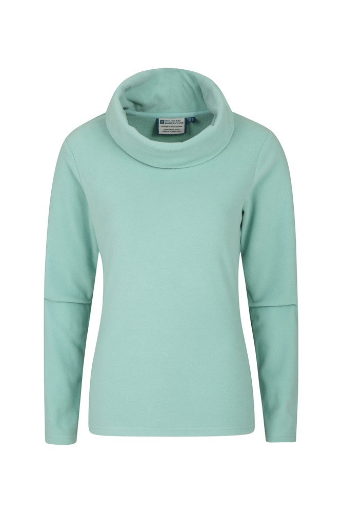 Camber Womens Cowl-Neck Fleece - Green