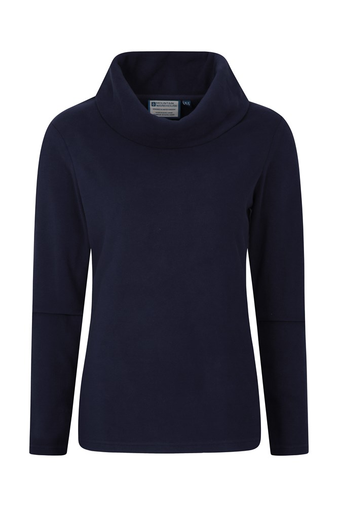 Camber Womens Cowl-Neck Fleece - Navy