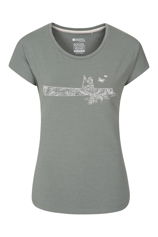 Canoe - koszulka damska - Green