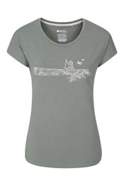 Canoe Printed Womens T-Shirt