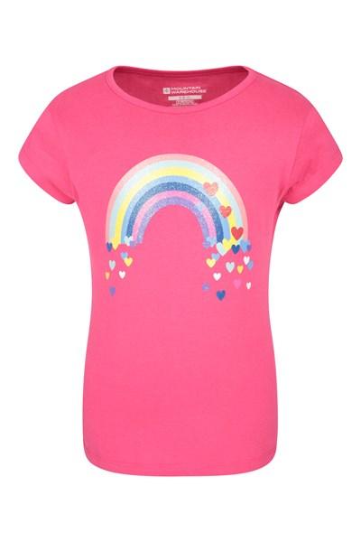 Rainbow Kids T-Shirt - Pink
