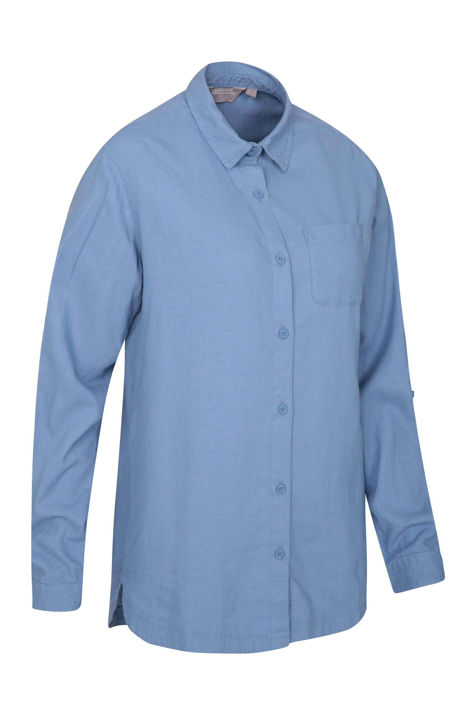 f5ab48291 Lounge Womens Long Linen Shirt | Mountain Warehouse GB