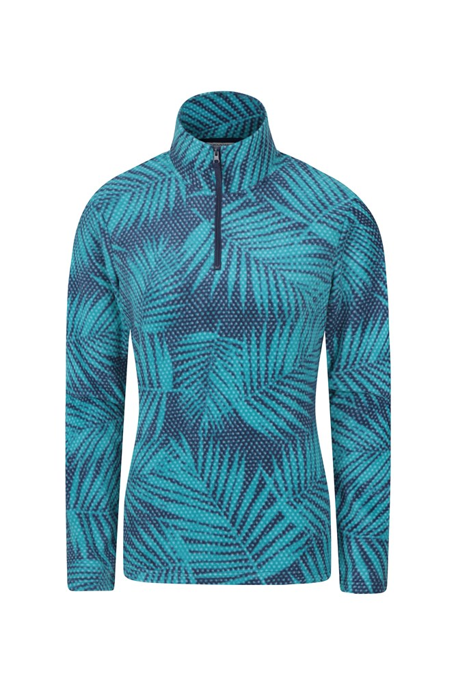 Devon Printed Womens Fleece - Blue