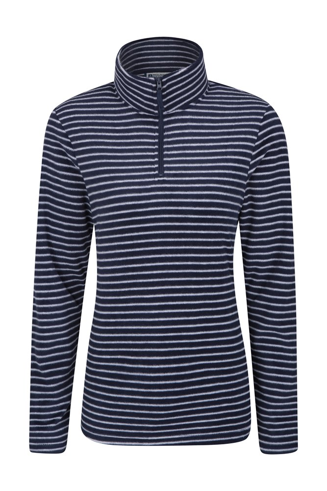 Devon Printed Womens Fleece - Navy