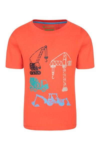 Construction Team Kids T-Shirt - Orange