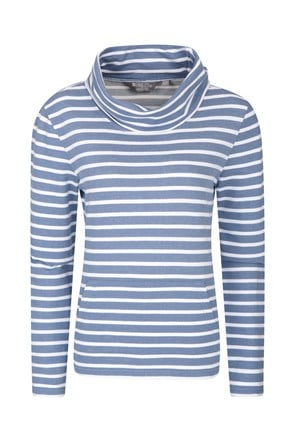 Devon Stripe Womens Cowl Neck Top