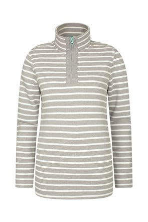 Kelso Stripe Half-Zip Womens Top