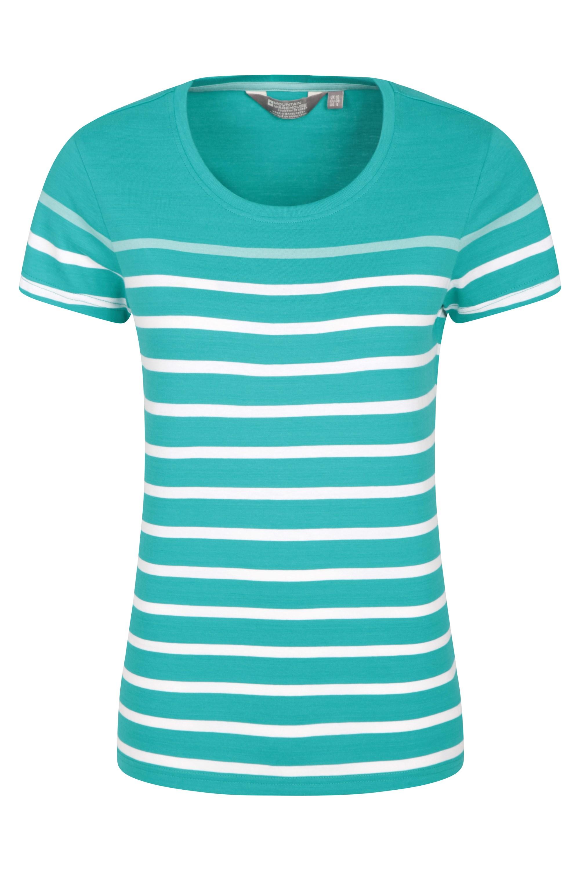 Dover Striped - koszulka damska - Green