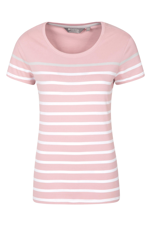 Dover Gestreiftes Damen T-Shirt - Rosa