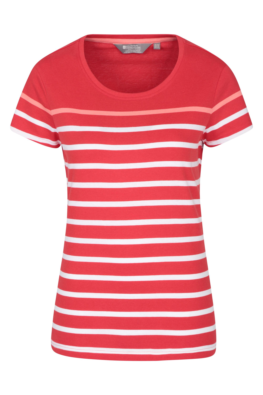 Dover Gestreiftes Damen T-Shirt - Rot