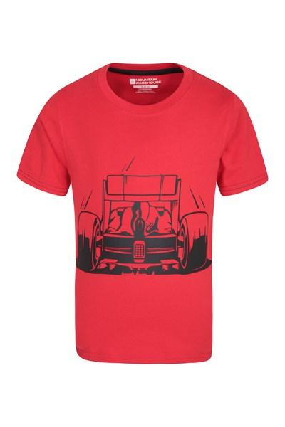 Race Car Kids T-Shirt - Red