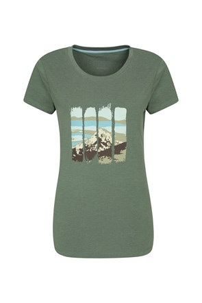 Mountain Printed Womens Tee