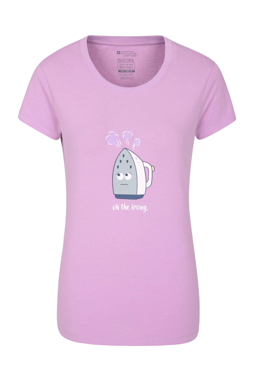 Oh The Irony Bedrucktes Damen T-Shirt - Violett