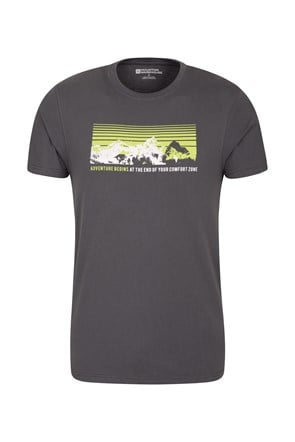 Adventure Begins Mens Tee