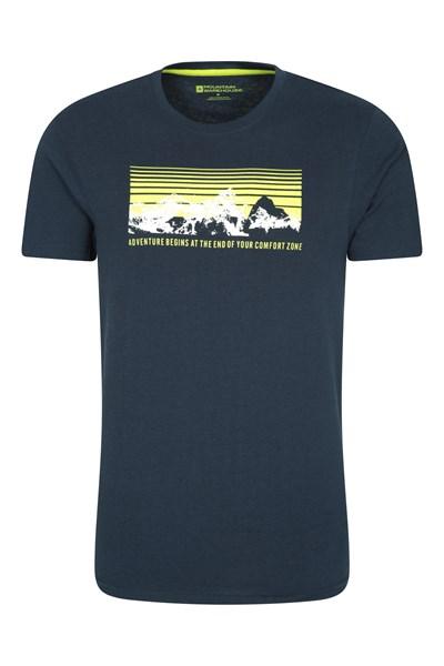 Adventure Begins Mens T-Shirt - Navy