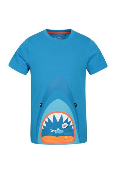 Shark Help Kids T-Shirt - Blue