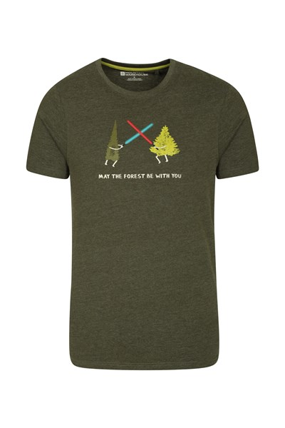 May The Forest Be With You Mens T-Shirt - Green