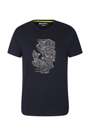 Peak District Contour Map Mens Tee
