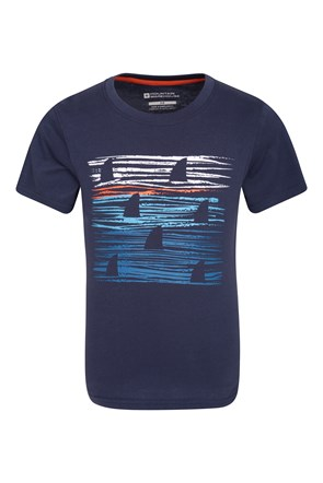 Sunset Stripe Kids Tee