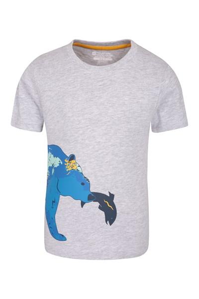 EC Bear Map Kids T-Shirt - Grey