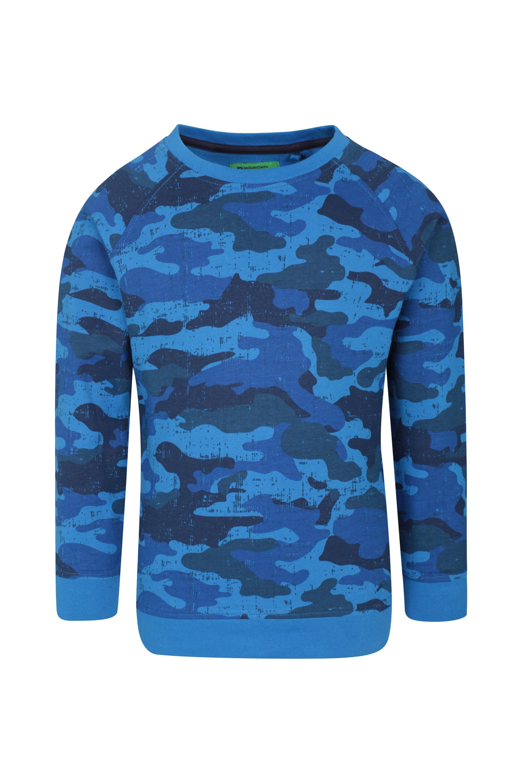 Printed Kids Sweatshirt - Blue