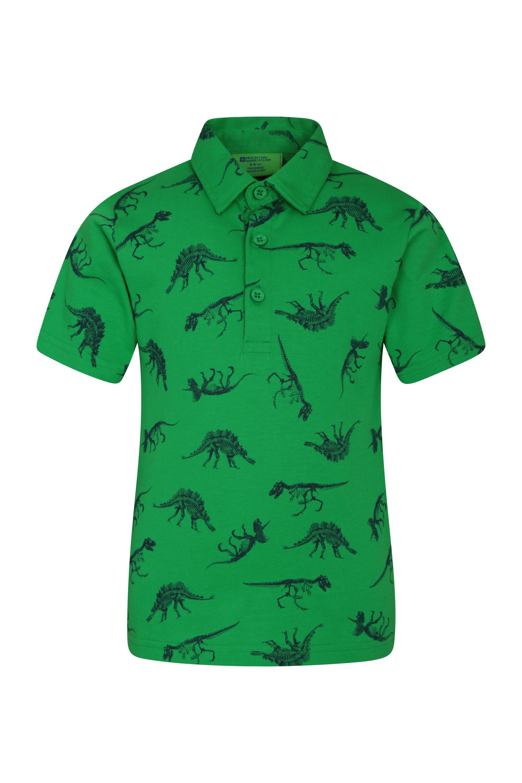 Printed Kids Polo Shirt - Green