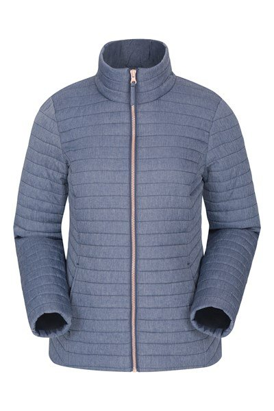 Quilted Womens Padded Jacket - Navy