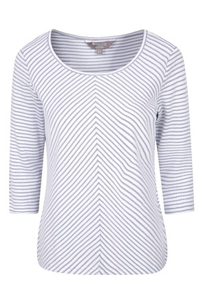 Melrose 3/4 Sleeve Stripe Knit Top