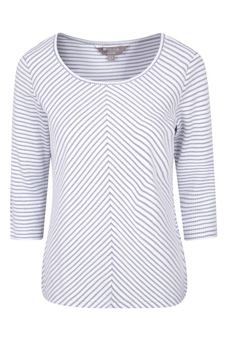 030213 MELROSE 3/4 SLEEVE STRIPE KNIT TOP